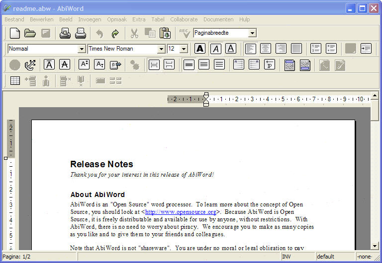 Open Source Word processor