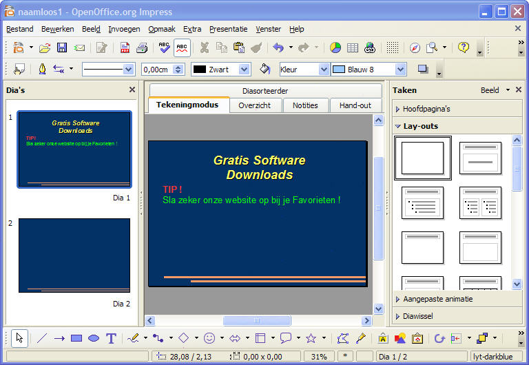 how to open endnote in openoffice