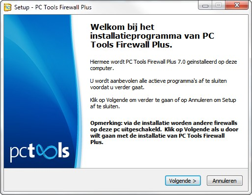 Setup PC Tools Firewall Plus