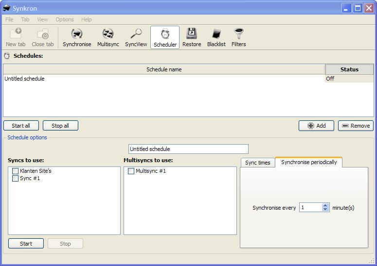 Synchronistaie software planner.